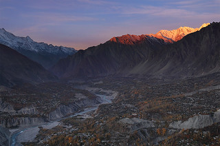 Dawn Light Over Hunza peaks !!