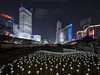 Dongdaemun Design Plaza (mikemikecat) Tags: led flower rose neon dongdaemundesignplaza mothership 東大門設計廣場 동대문디자인플라자 首爾ddp nightscapes house mikemikecat architecture stacked building colorful housing pattern 抽象 建築 建築物 城市 天際線 戶外 block cityscapes street nightview night 夜景 香港 路 evening 建築大樓 twilight nightscape 建築結構 基礎建設 market village laowa 75mm olympusomd 人 neonlights neonsign seoul korea 韓國
