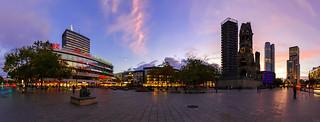 Breitscheidplatz Panorama @ Sunset - Berlin Skyline Panorama