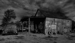 Nostalgic Shed (Tim @ Photovisions) Tags: kansas nostalgic farm shed pickup truck sign signs