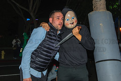 Halloween in WEHO 2017 (morgan@morgangenser.com) Tags: halloween costumes silly sexy protests police gates skin crazy donaldtrump santamonicablvd westhollywood weho people colorful crowd party drinking photos photography camera nikon canon flashes movies tv