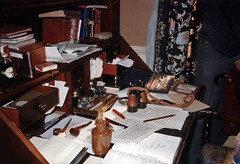 Watson's desk (photo copyright Jean Upton, 1987)