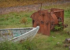 It's just a wind up.... (Harleynik Rides Again.) Tags: rust winch boat oldwoodenboat letterfearn lochduich glenelg highlands scotland harleynikridesagain