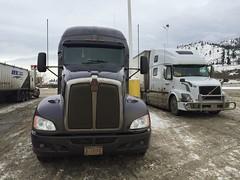 Kamloops BC (Ian Threlkeld) Tags: kenworth iphone kamloops bc drivebc explore trucking winter beautifulbc britishcolumbia