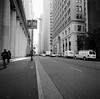 San Francisco (bior) Tags: hasselblad500cm sanfrancisco trix kodaktrix distagon 120 mediumformat 6x6cm street financialdistrict towers downtown sidewalk