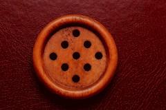 Golfer's Favorite Button (Caroline.32) Tags: nikond3200 50mm18 extensiontube20mm bowercloseuplens4 button 9holes wooden buttonsandbows