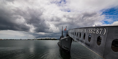 In memory of the fallen (Rabican7) Tags: hawaii oahu island warship submarine ocean sea memory attack war combat remembering landscape cloudscape clouds sky pacific navy pearlharbor worldwarii bowfin pearlharborattack tribute fallensoldiers