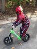 1113 (StriderBikes) Tags: 12 2017 boy classic costume green halloween october photocontestentry powerranger road skills standing trees wild