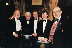 Douglas Wilmer, Barry Cryer, Nicholas Utechin, Peter Horrocks & Tony Howlett (photo by Tony Marshall)