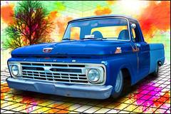 1965 Ford F100 (Asheville, North Carolina) (@CarShowShooter) Tags: asheville geo:lat=3558879846 geo:lon=8248662293 geotagged northcarolina oteen unitedstates usa 1965fordf100 1965fordpickup 1965fordtruck americanclassictruck americantruck ashevillevamedicalcenter automotivephotography automotiveportrait avl bluepickup bluetruck buncombecounty buzsim carshow carshowphotography classictruck classicvehicle dropped f100 ford fordf100 lowered pickup slammed static topaz topazbuzsimeffect topazfilter topazsimplify topazsoftware truck vehicle véhicule vehículo vendimia veteranscarshow westernnorthcarolina wnc worldcars fordfseries 4thgen fourthgeneration