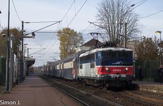 La BB 17068 sur un Conflans - Paris
