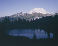 Chinook Pass Tilt (voetshy) Tags: chinook pass washington mount rainier mountain lake large format film 4x5 toyo 45a schneider kreuznach symmar convertible 150mm 56 tilt sunrise velvia 50 fuji