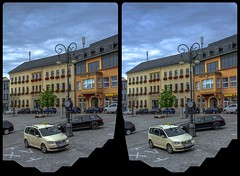 Market square, Reichenbach i.V. 3-D / CrossEye / Stereoscopy / HDR / Raw (Stereotron) Tags: saxony sachsen reichenbach vogtland architecture crosseye crosseyed crossview xview cross eye pair freeview sidebyside sbs kreuzblick 3d 3dphoto 3dstereo 3rddimension spatial stereo stereo3d stereophoto stereophotography stereoscopic stereoscopy stereotron threedimensional stereoview stereophotomaker stereophotograph 3dpicture 3dglasses 3dimage twin canon eos 550d yongnuo radio transmitter remote control synchron kitlens 1855mm tonemapping hdr hdri raw 3dframe fancyframe floatingwindow spatialframe stereowindow window