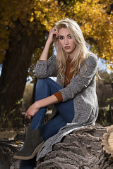Kaylee Lynas in the bosque (Mitch Tillison Photography) Tags: beautiful gorgeous stunning amazing woman female model style fashion glamour boutique bosque forest fall autumn foliage blonde nikon d5 flashpoint godox 600 strobe highspeedsynch newmexico cottonwoods mitchtillison photo photography tamron 70200