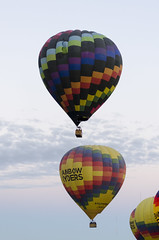 Hot Air Balloons (rschnaible) Tags: albuquerque balloon fiesta hot air colorful color transportation sport flight new mexico west western us usa southwest
