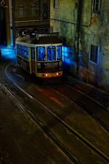 line 28 (ignacy50.pl) Tags: citylife tram famous portugal lisbon cityscape night nightlights passenger transportation light travel journey sightseeing reportage oldtown oldstreet