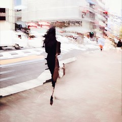 chasing a dream... (tabiwallah) Tags: slowshutter slowshuttercam street streetphotography streetabstract squareformat square mood rhythm iphone iphone8plus iphoneography akihabara tokyo 秋葉原 東京