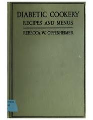 2017.11.23 Diabetic Cookery, 1917, via OpenLibrary 183