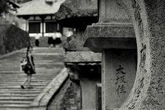 voyeurism(s) (crosses) Tags: black white blackandwhite preto branco pb bw monochrome grey street urban people nara japan