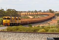 18 November 2017 P2504 P2506 P2513 7720 empty ore  Tardun (RailWA) Tags: railwa philmelling aurizon midwest p2504 p2506 p2513 7720 empty ore tardun