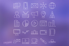 Marketing Icon Set (mkrukowski) Tags: icon web internet business set vector symbol media technology school phone money mobile interface graphic shopping website button design bank collection computer pictogram social arrow ui concept flat app isolated