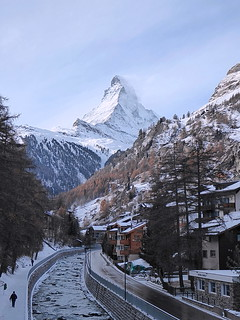Vispa River and Matterhorn