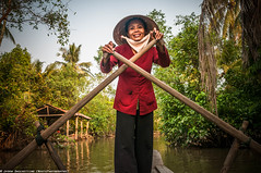 Somewhere around Vĩnh Long (Việt Nam) (Jason WastePhotography) Tags: vietnam boat river mekong smile travel nonla jungle asia photooftheday freedom rural countryside