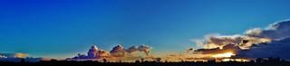 Silhouetten en wolken - Lede
