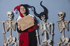 Day 3927 (evaxebra) Tags: 365days 365 evaxebra wh wah christmas halloween skeletons skeleton harley quinn sign days maleficent jester