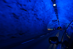Lærdalstunnel, E16, Norway (EtienneMuis) Tags: lærdalstunnel lærdalstunnelen laerdalstunnel laerdalstunnelen tunnel longest norway norge road e16 aurlandsfjell blue car driving eroad european