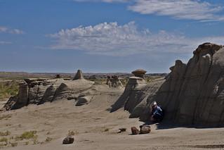 Hot!  Ah-Shi-Sle-Pah badlands; San Juan Co., New Mexico, USA.