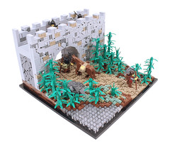 Kahstu Gate (Gareth Gidman) Tags: lego ccc castle asian gate forest bamboo wall medieval