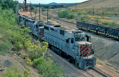 Copper Basin Railway (rolfstumpf) Tags: usa arizona hayden copperbasinrailway emd geep trains oretrain desert railway railroad cbry403 gp392