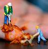 #Fingertip - Oops... (Aleem Yousaf) Tags: macromondays fingertip oops civil engineer drilling fingertips nikon d800 nikkor105mm bokeh accident table top creative photography chilli sauce spill food
