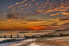 Sunset (niloc's pic's) Tags: sunset sky sea clouds beach groynes rocks beachyhead bexhillonsea eastsussex panasonic lumix dmcgx7