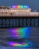 Not starlings - 2 (hehaden) Tags: pier brightonpier palacepier evening lights reflections sea brighton sussex sel70200g