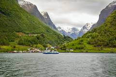 Village on the banks (malc1702) Tags: fjord naeroyfjord norway norwaytourism travel travelphotography nikond7100 nikkor18140mm nature naturephotography landscape landscapephotography ocean beauty beautiful scenery scenic vacation holiday fun adventure europe beautifuldestinations lovetotravel lovenorway