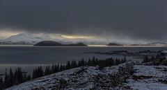Pingvellir (hazelhouliston) Tags: iceland pingvellir tectonic landscape light snow lake water winter sky clouds
