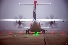 18/11/2017 (nicolasnectoux) Tags: fog brouillard brume taxiway runway airport aircraft avgeek aviation hop atr atr72600 atraircraft propellers turboprop twinengine tls lfbo sierra