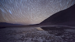 Badwater Star Trails (magnetic_red) Tags: playa badwater deathvalley stars starry night trails circle reflection water desert nightscape outdoors multipleexposure