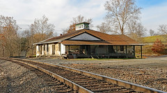 Rectortown Depot, Store & Post Office, circa 1835, Rectortown, VA - served as a headquarters and a prison during the Civil War (Beltway Photos) Tags: rectortown fauquiercounty virginia unitedstates railroad depot 1800s civilwar mosby mosbysrangers