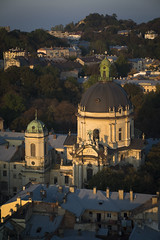 Dominican cathedral (Ihor Hlukhoi - intui.pro) Tags: outdoor ukraine lviv architecture art city ancient house palaces building landscape sky tower roof window church temple clock stonework