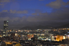 Bilbao anochece lentamente... (AmetsBatean) Tags: bilbao euskadi bizkaia euskalduna torreiberdrola noche luces horaazul city ciudad night travel travelling thebluehour bluehour