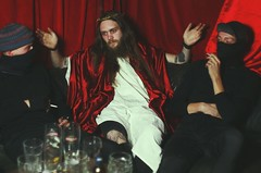 The Last Supper (le clair de lune) Tags: jesus church christianity portrait people bar holy catholic red thorns beard wine mirror surreal irony