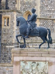 Windsor Castle (carolyngifford) Tags: windsorcastle windsor statue charlesii equestrian melhuish