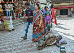 "INDIA8618/ ""inhumane indifference......... (Glenn Losack, M.D.) Tags: india begging handicapped deformed amputee amputated photojournalism street photography"