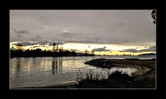 A distant golden light... (Marcia Portess-Thanks for a million+ views.) Tags: adistantgoldenlight map marciaportess ocean vancouvercanada pacific northwest lateafternoon englishbay westendvancouver sunsetbeachvancouver aqua mar latarde clouds beach coast