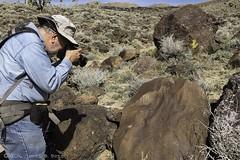 Shoot the Photographer (W9JIM) Tags: w9jim ronwolf dvnp deathvalley petroglyph rockart 7d2 24105l 24mm hat blackrockwell explore