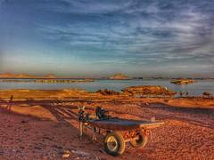 Forever together (amanyadel9212) Tags: egypt aswan travel nasser lake sky water desert mobile photos landscape