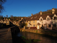 The Sunshine at Castle Combe (RS400) Tags: castle combe village house houses blue sky tree travel olympus water southwest wiltshire outside wow cool wicked amazing sun